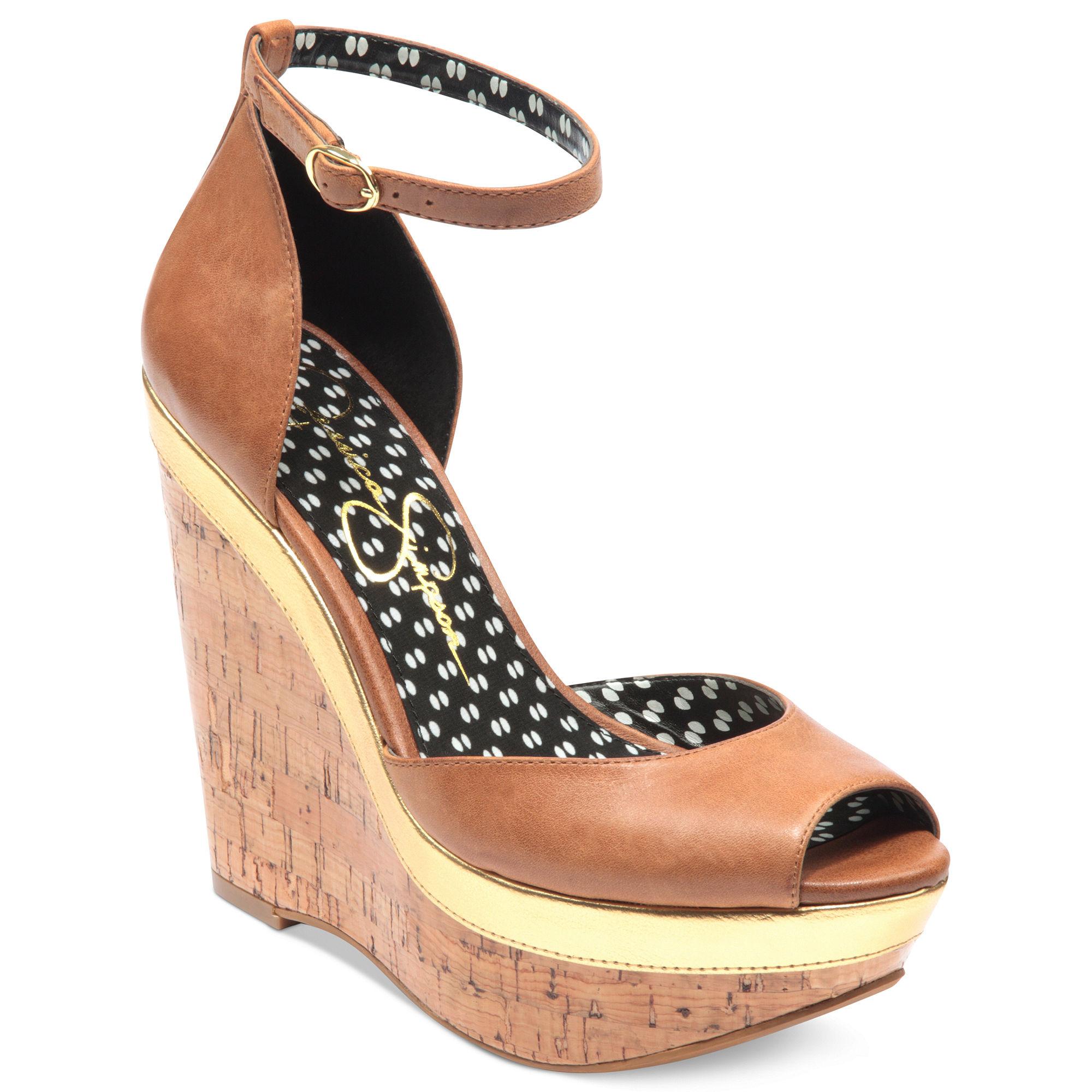 cc03dffc4e09 Lyst jessica simpson keira platform wedge sandals in brown jpg 2000x2000 Jessica  simpson tan wedges