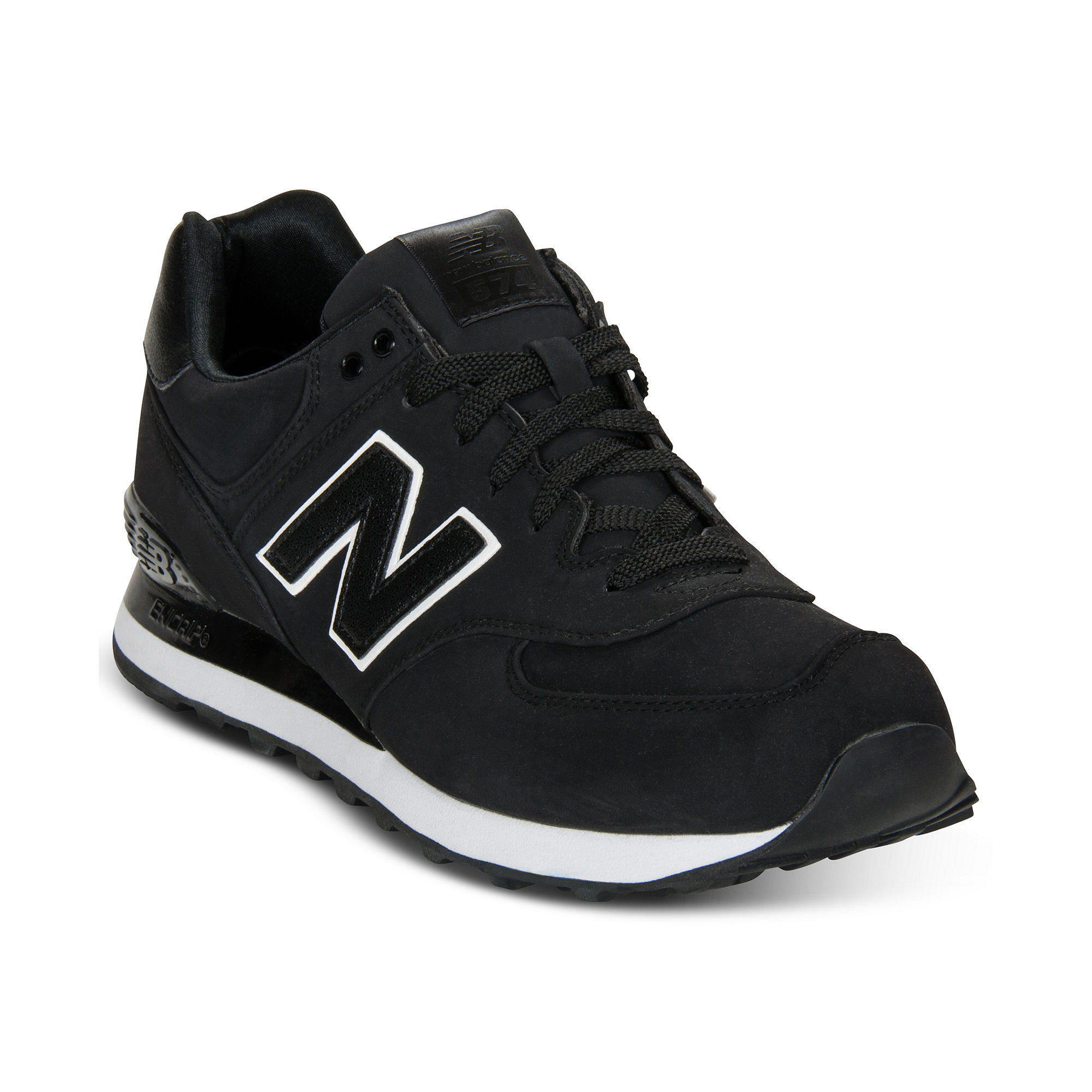 new balance 574 black and white