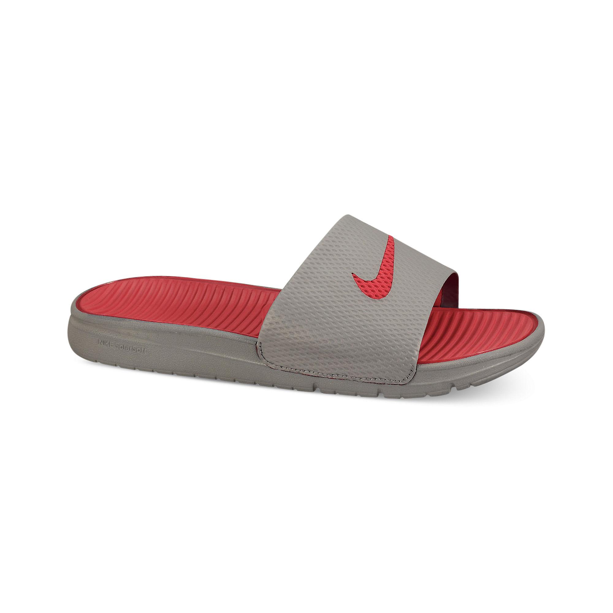 d9c18d9e008a Nike Benassi Solarsoft Slides in Gray for Men - Lyst
