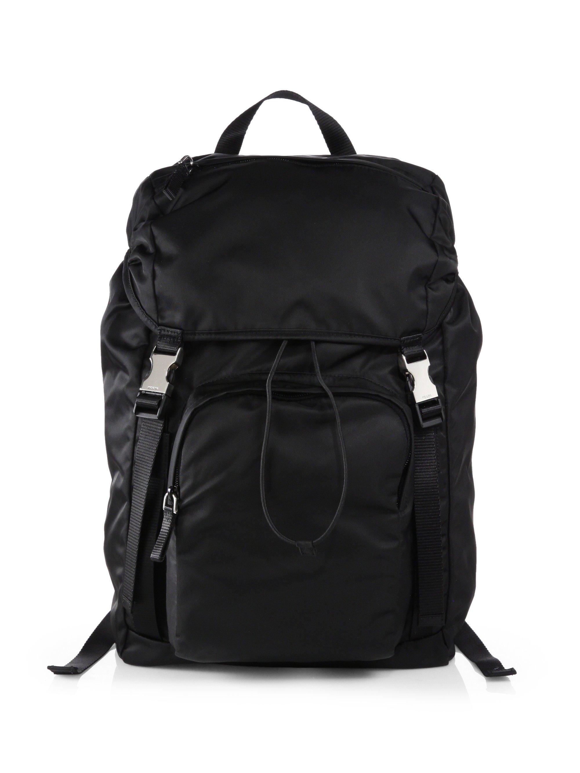 Lyst Prada Nylon Backpack In Black For Men