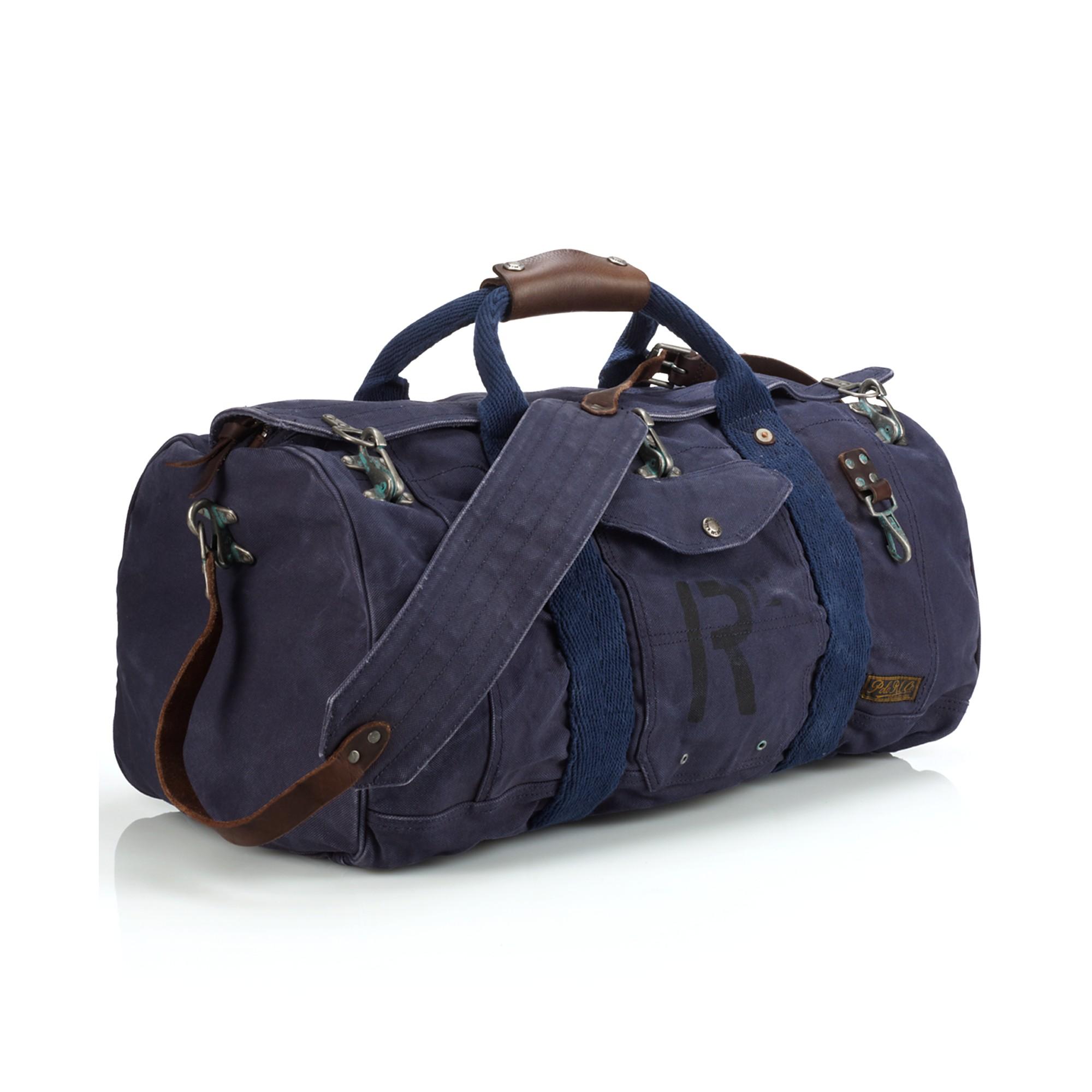 Lyst - Ralph Lauren Firemans Canvas Duffel Bag in Blue for Men f9aca4ce48a55