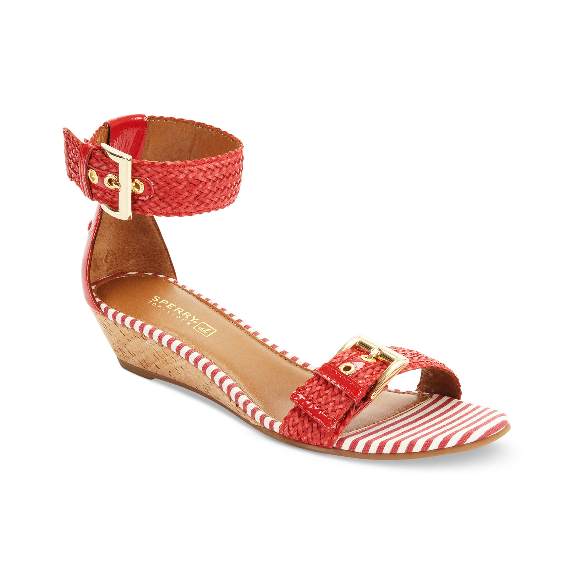 sperry top sider lynnbrook wedge sandals in woven