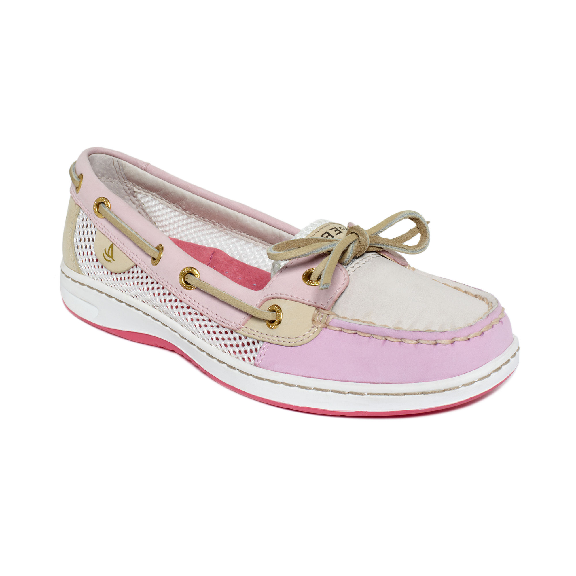 Sperry Top-sider Angelfish Boat Shoes in Pink (Rose Open Mesh