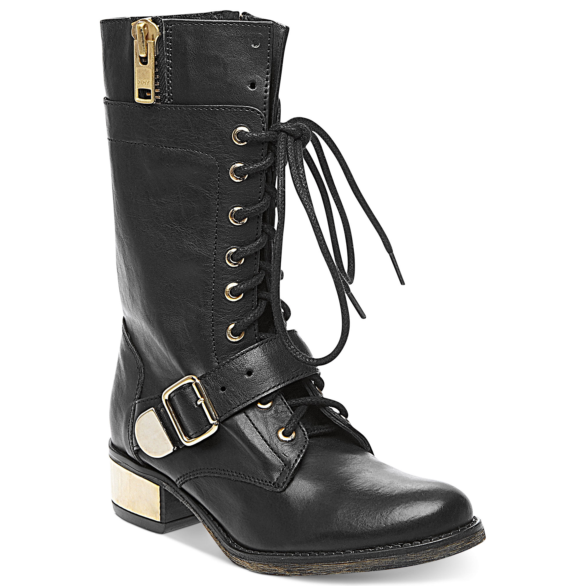 Steve Madden Lollly Combat Boots in Black   Lyst Steve Madden Combat Boots Men