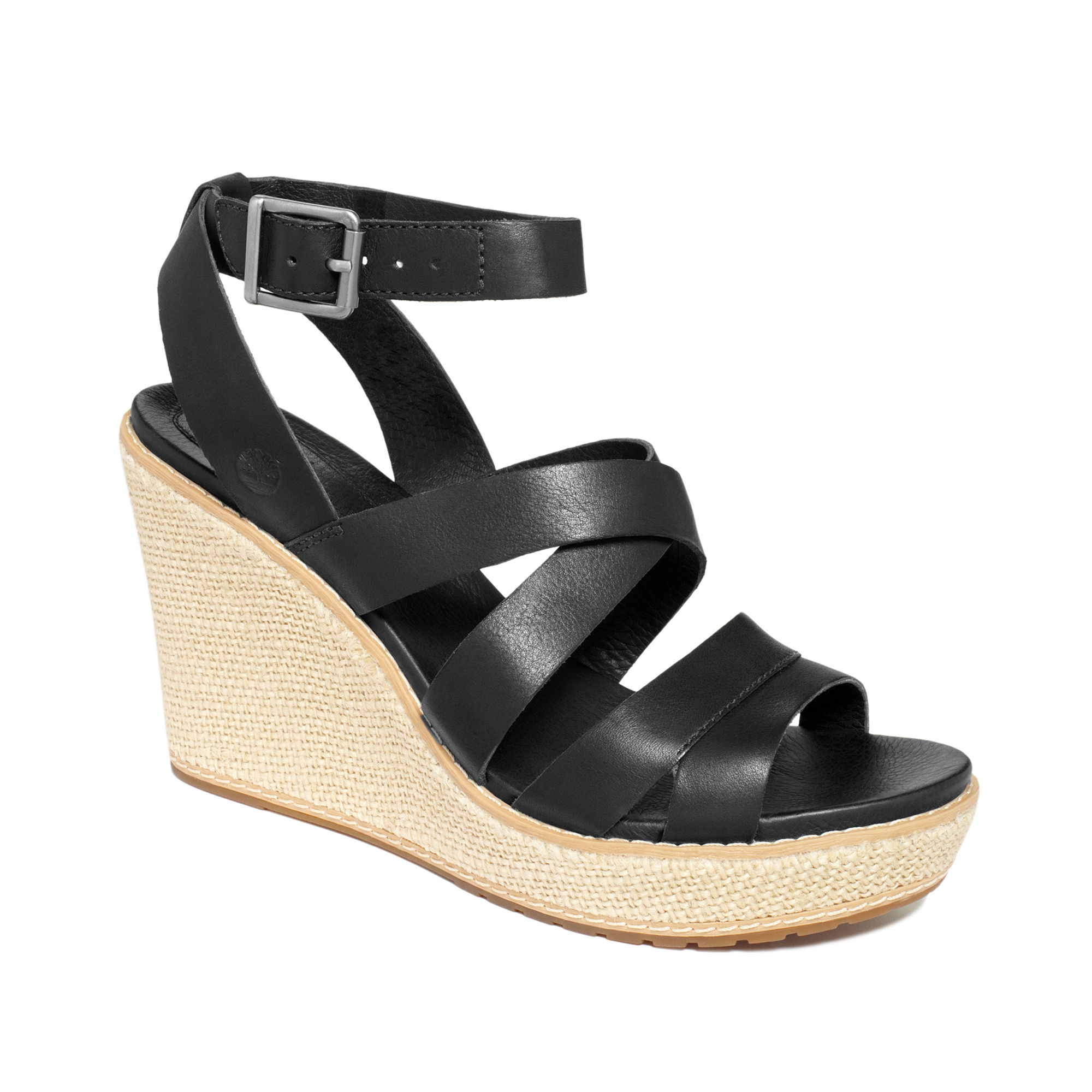 timberland danforth platform wedge sandals in black lyst
