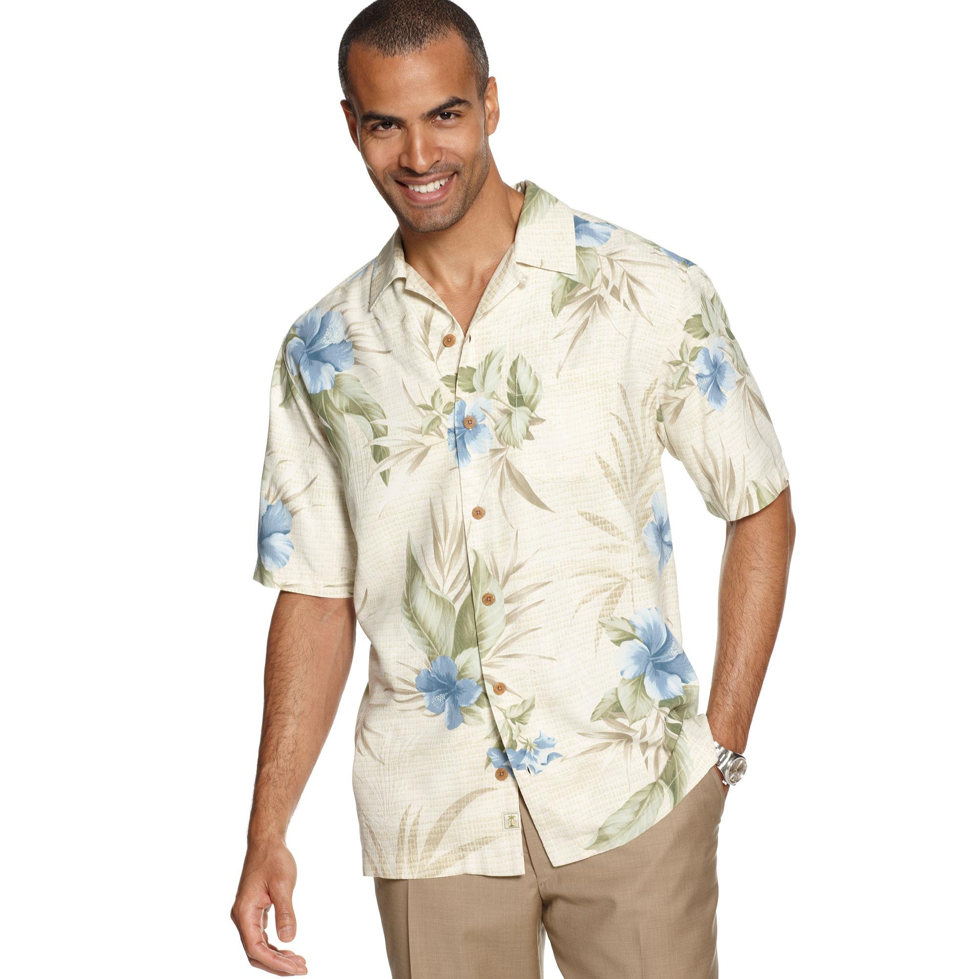 Lyst tommy bahama tropical mosaic short sleeve shirt in for Tommy bahama florida shirt