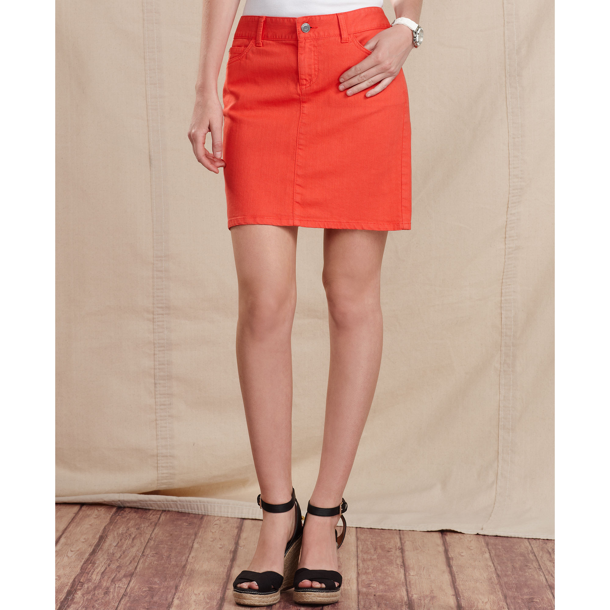 Colored Denim Skirts - Skirts