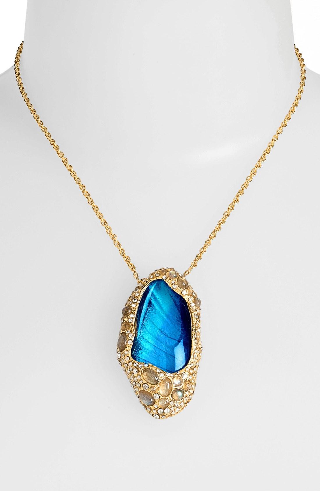 Alexis bittar elements jardin de papillon pendant necklace for Jardin necklace