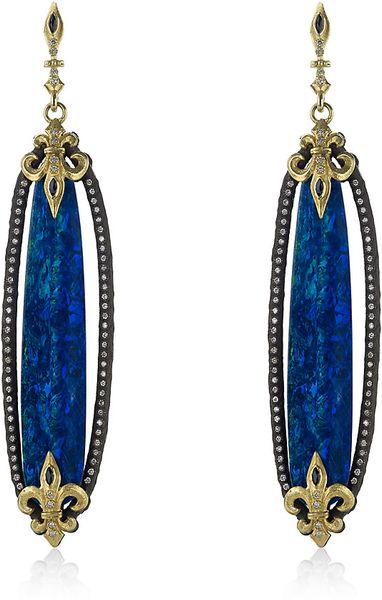 Armenta Boulder Opal Drop Earrings In Blue Sapphire Lyst