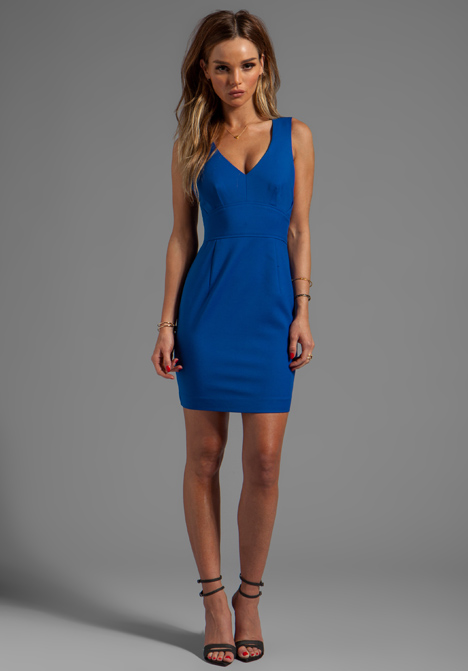 Black halo Vera Mini Dress in Blue in Blue | Lyst