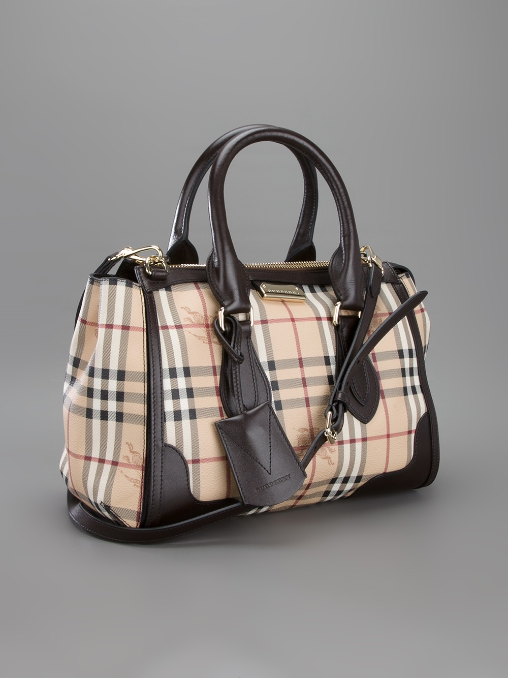 33120b329d88 Lyst - Burberry Prorsum Small Gladstone Tote in Natural