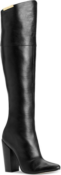 Calvin Klein Averie Convertible Boots in Black (Black Leather)