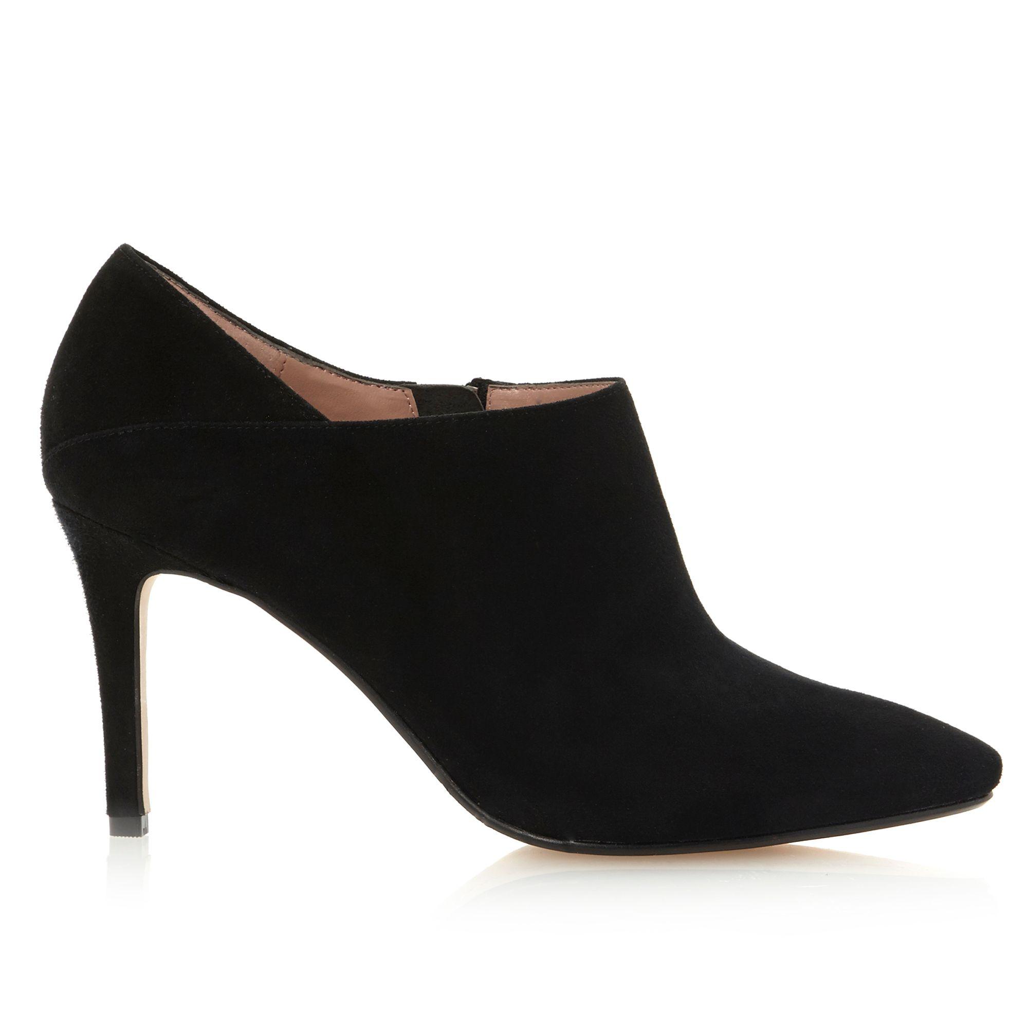 dune avinda simple shoe boots in black black suede lyst