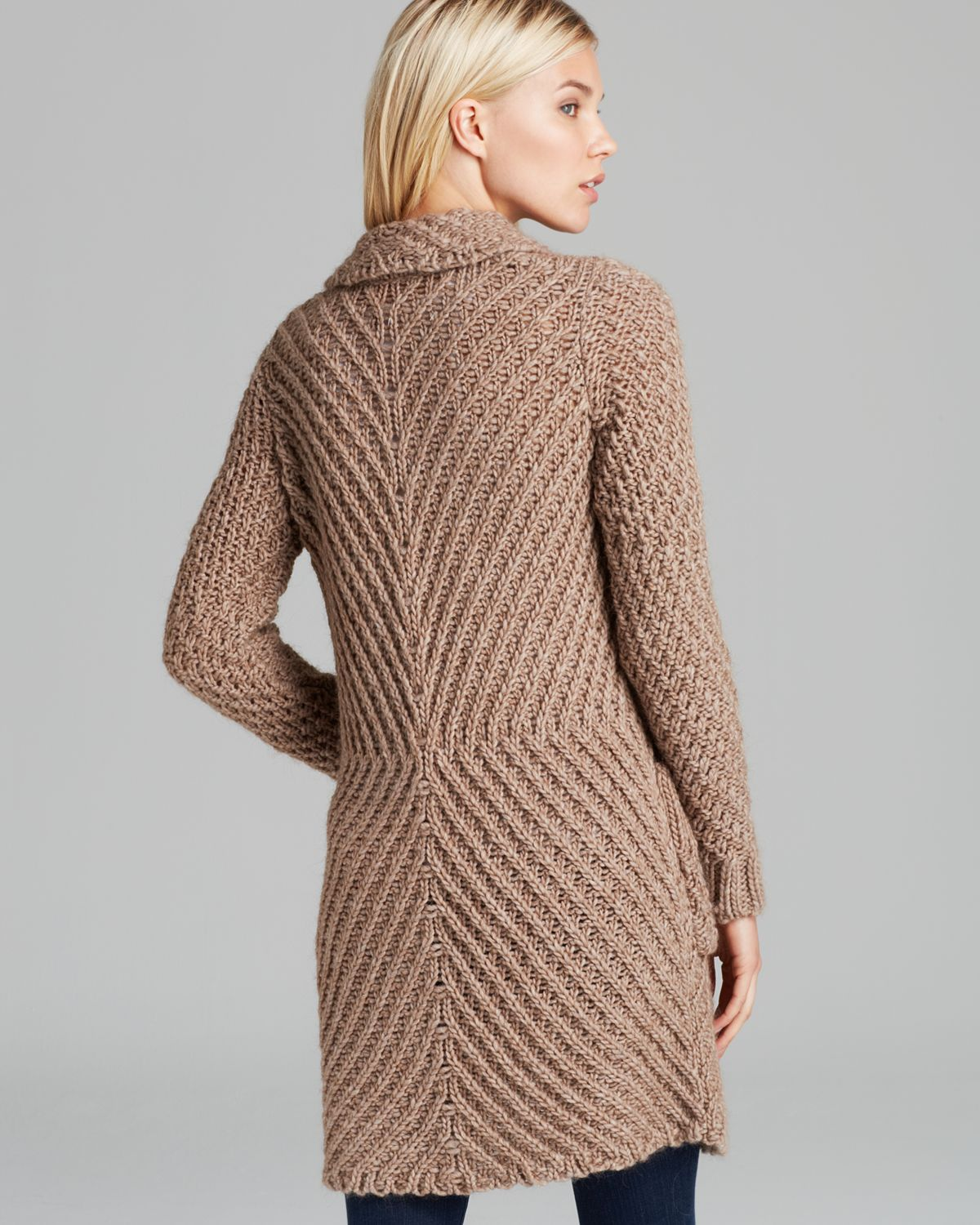 Free people Cardigan Chunky Yarn Buttermilk Biscuit in Brown | Lyst