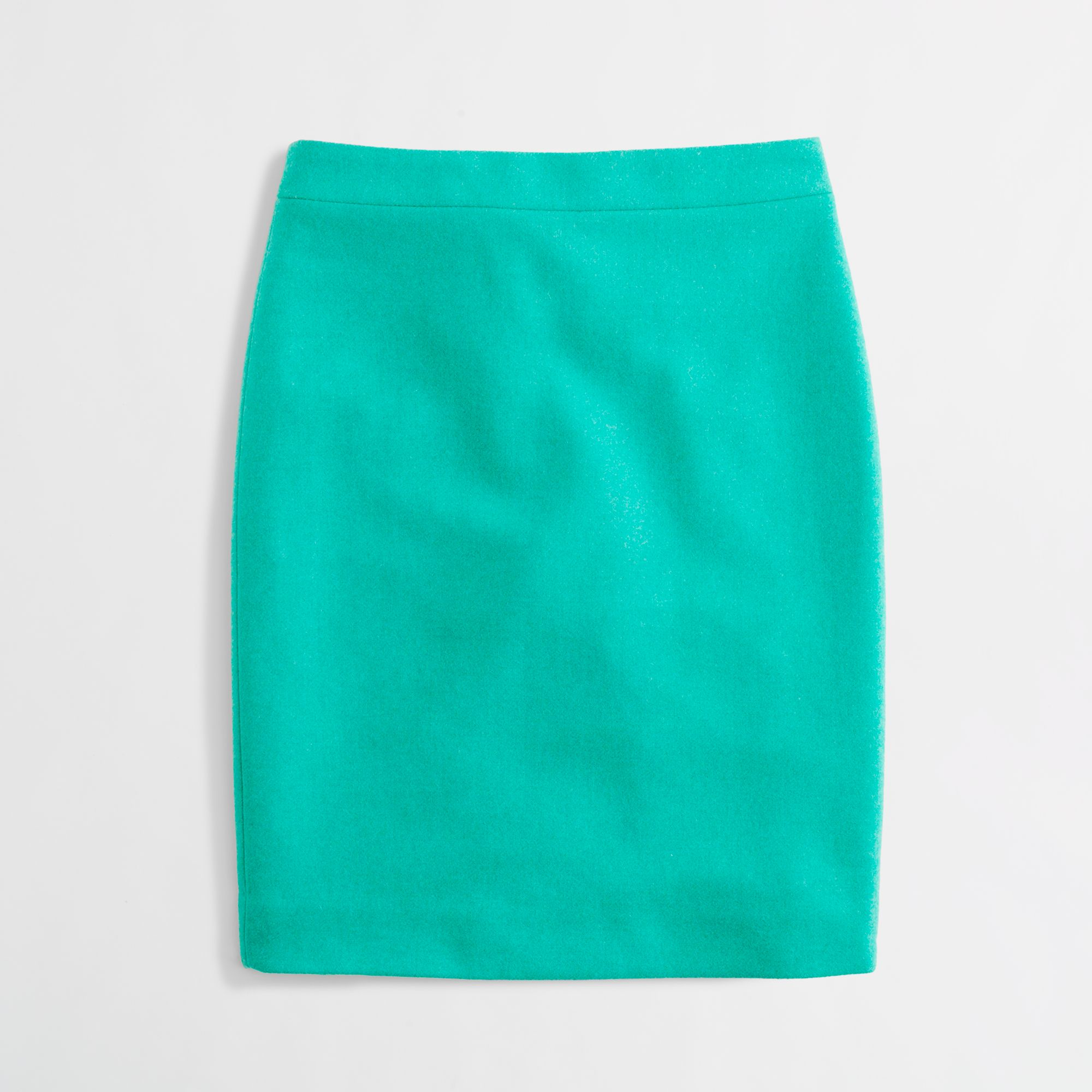 j crew factory pencil skirt in doubleserge wool in green