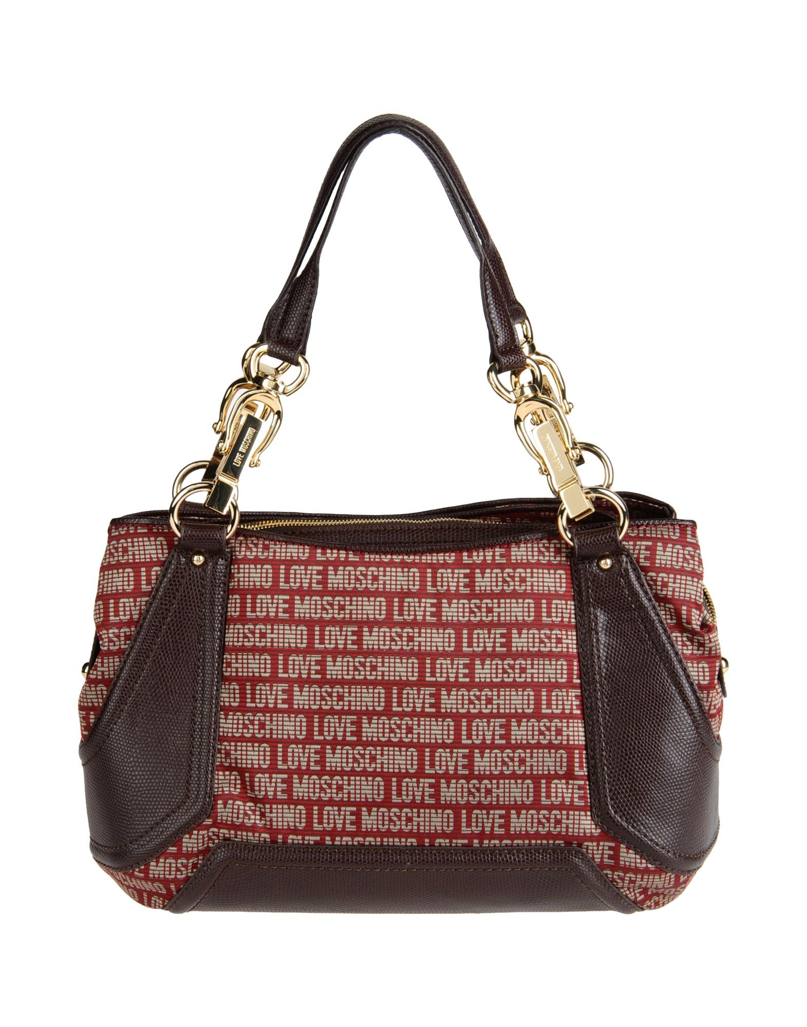 love moschino shoulder bag in red maroon lyst. Black Bedroom Furniture Sets. Home Design Ideas