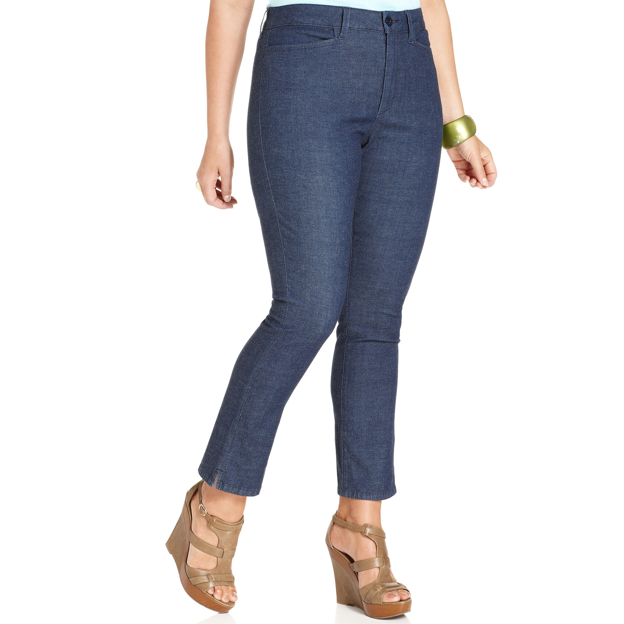 Not your daughter's jeans Nydj Plus Size Jeans Cambria Ankle ...