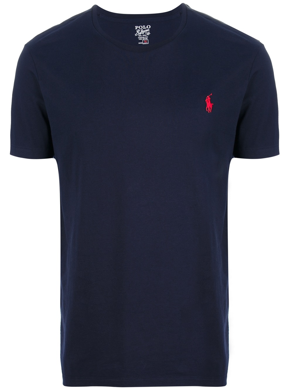 polo ralph lauren custom fit t shirt in blue for men navy lyst. Black Bedroom Furniture Sets. Home Design Ideas
