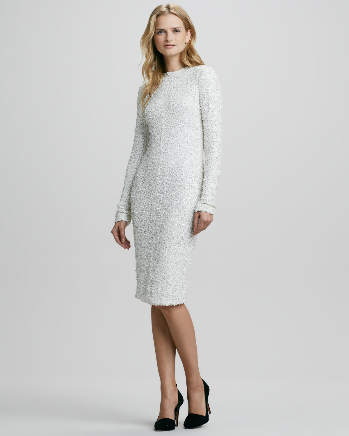 Rachel zoe Adrienne Fitted Sequined Dress in White | Lyst