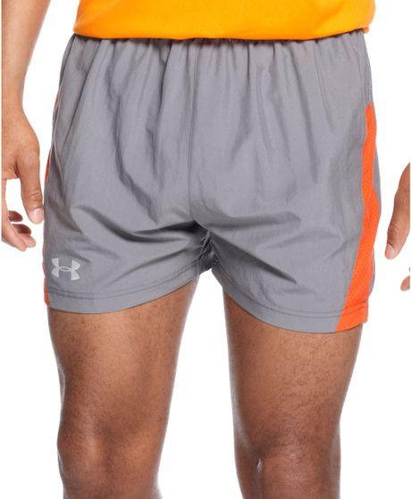 Under Armour Heatgear Flyweight Run Shorts In Gray For Men