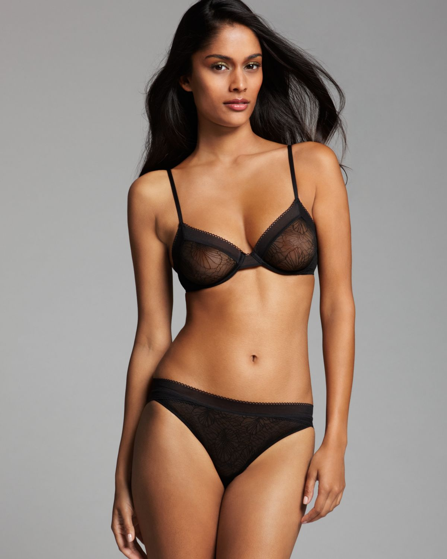 f055080332 Lyst - Calvin Klein Bra - Launch Lace Unlined Underwire  F3654 in Black