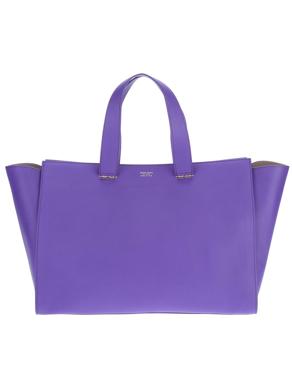 95bdfd369f Lyst - Giorgio Armani Shopper Tote in Purple