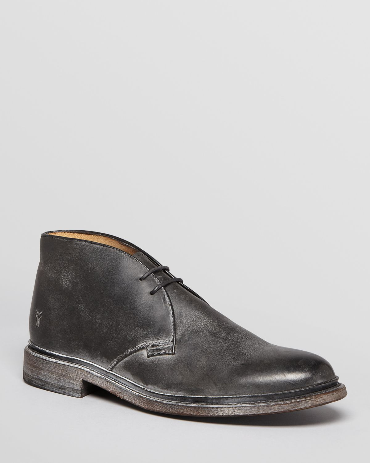 frye leather chukka boots in black for lyst