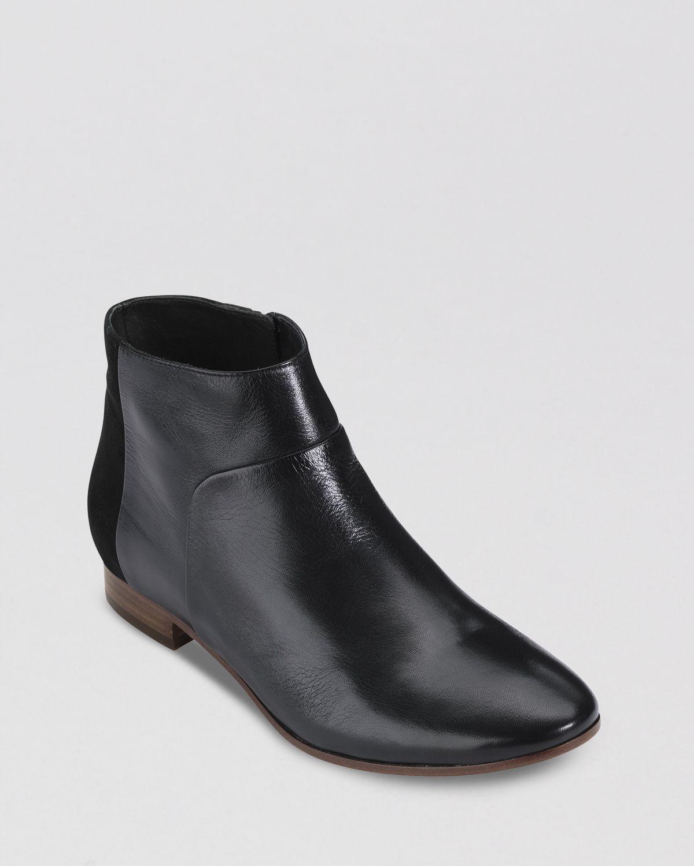 cole haan flat booties allen in black lyst