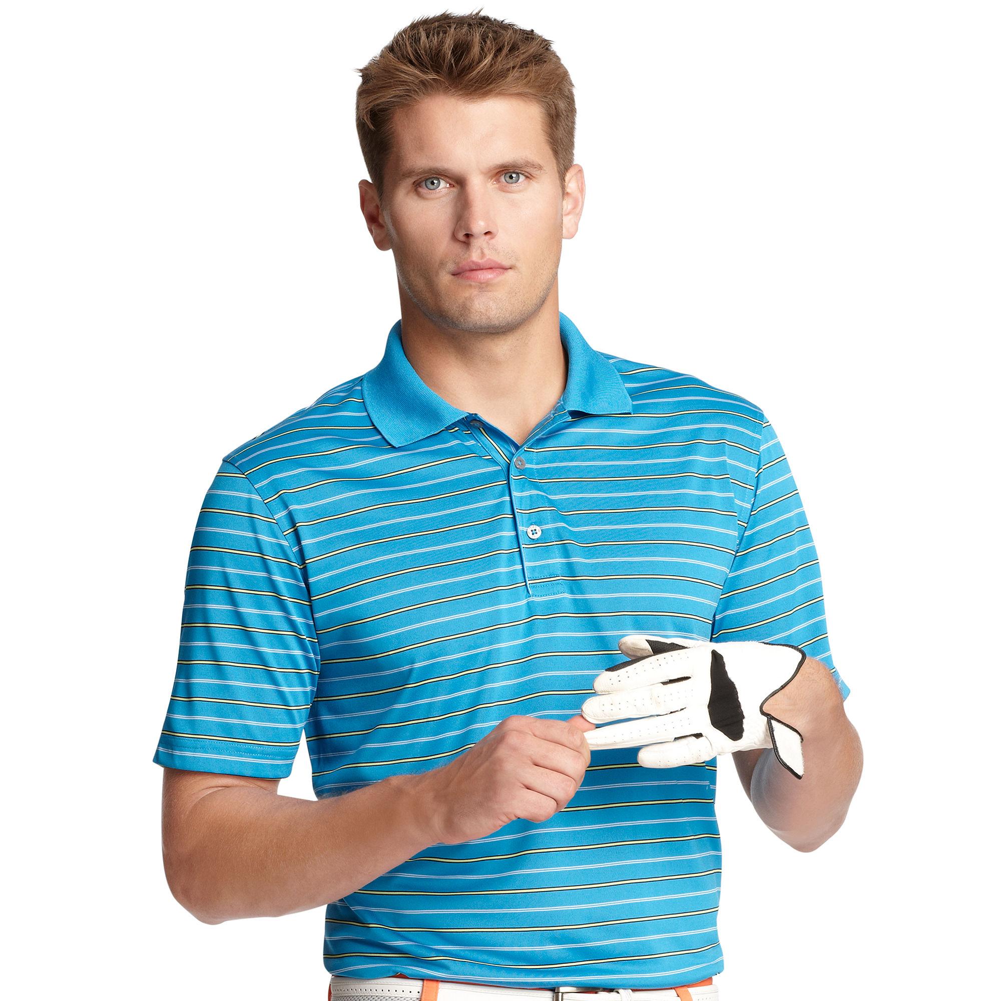 Izod Short Sleeve Stripe Polo In Blue For Men Living