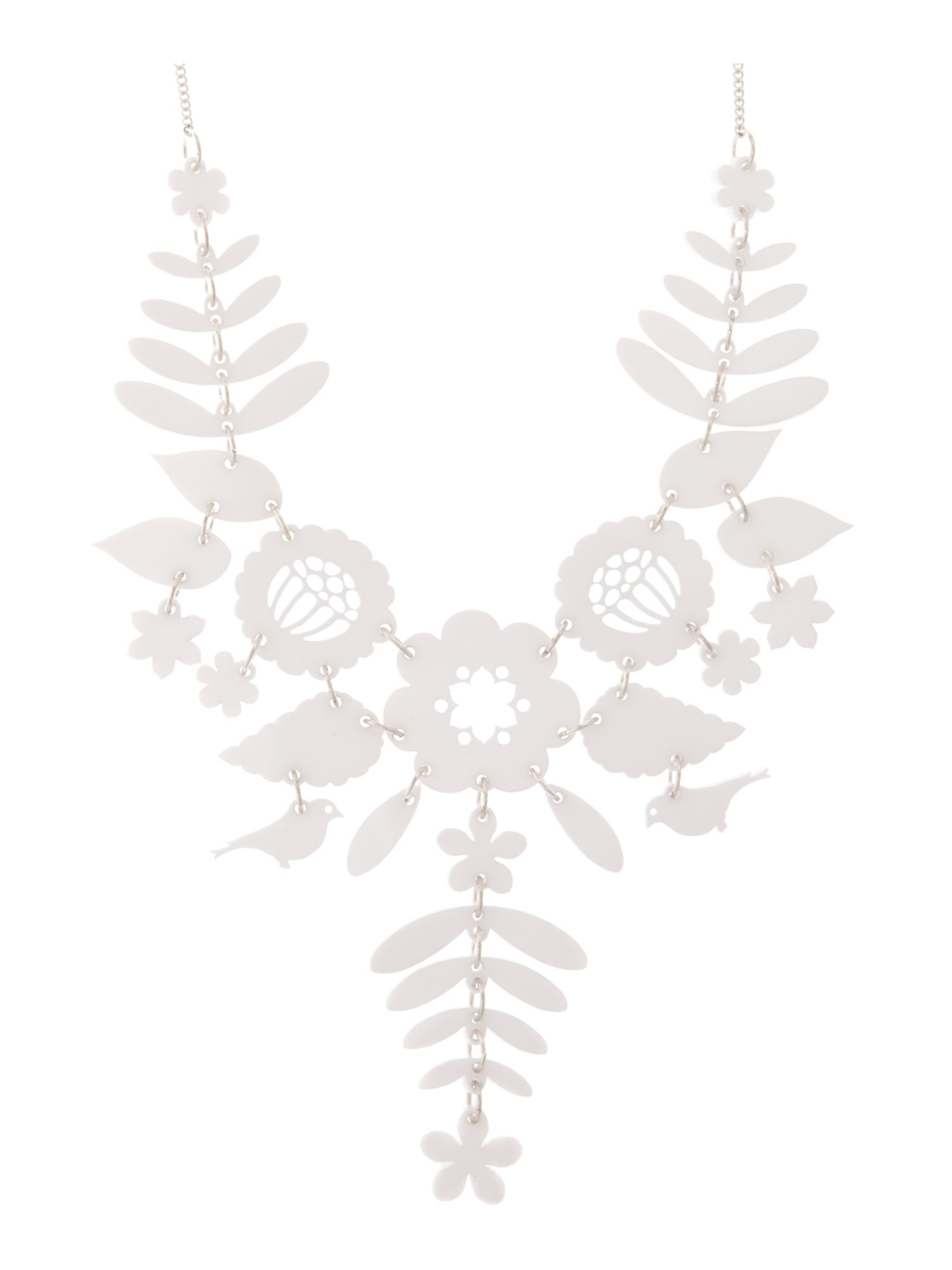 Lyst tatty devine mexican embroidery necklace in white