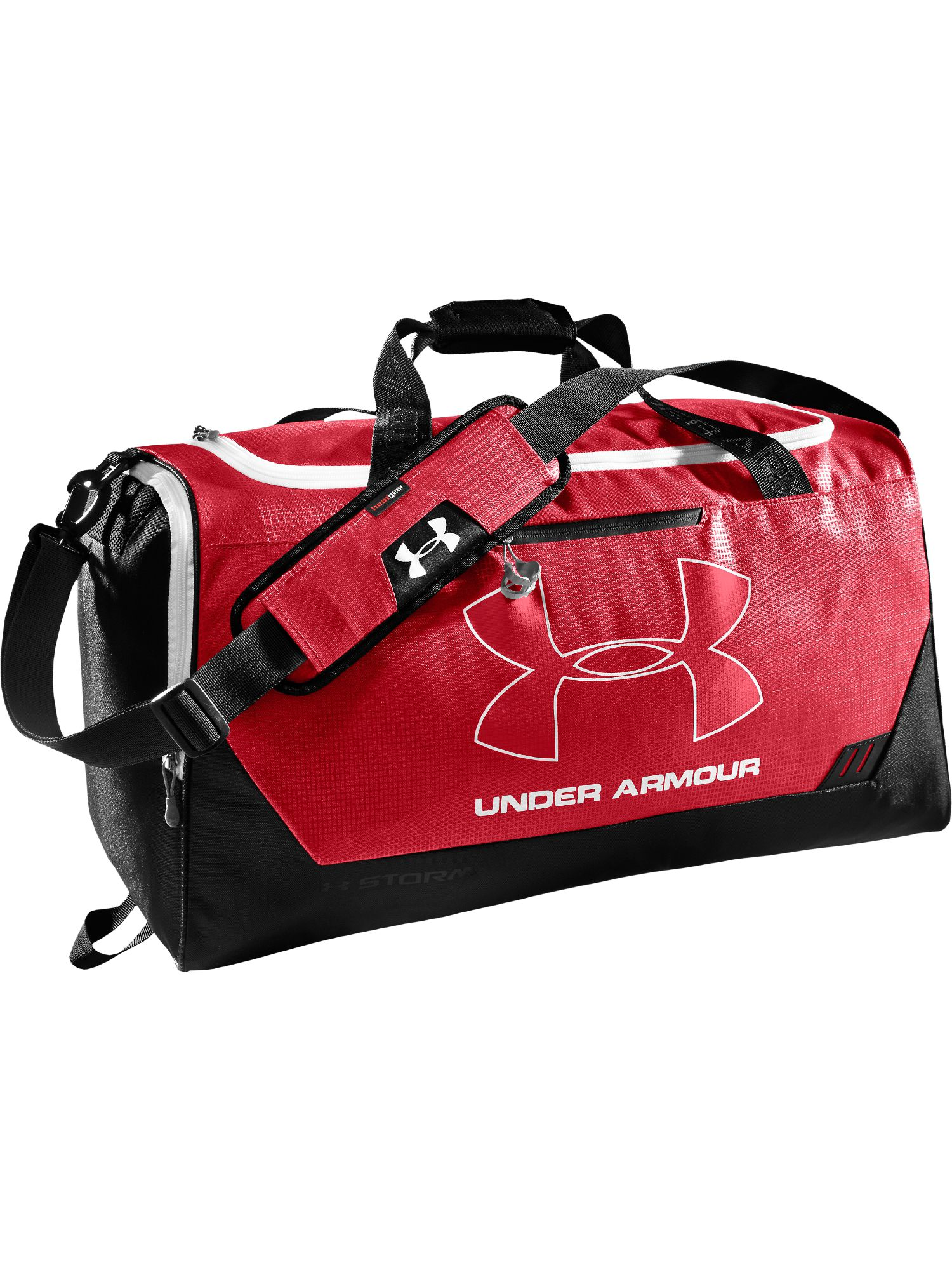 Under Armour Hustle Md Duffel Bag In Red For Men Lyst