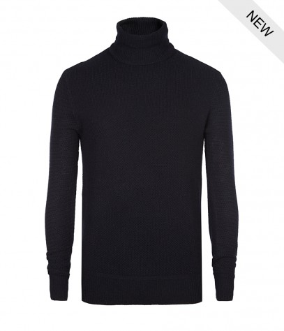 be1fe9c6c85d99 AllSaints Nord Cashmere Roll Neck Jumper in Black for Men - Lyst