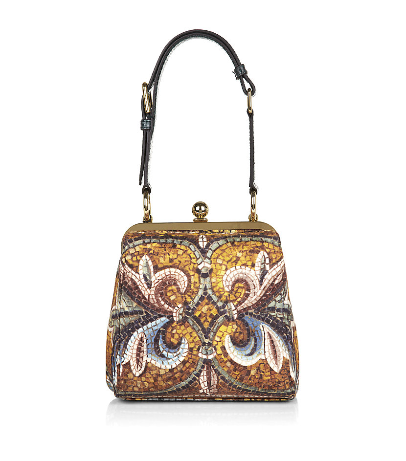 85a0c15cb834 Dolce   Gabbana Agata Mosaic print Medium Bag in Metallic - Lyst