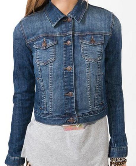 Blue Jean Jacket Forever 21 Forever 21 Denim Jacket in