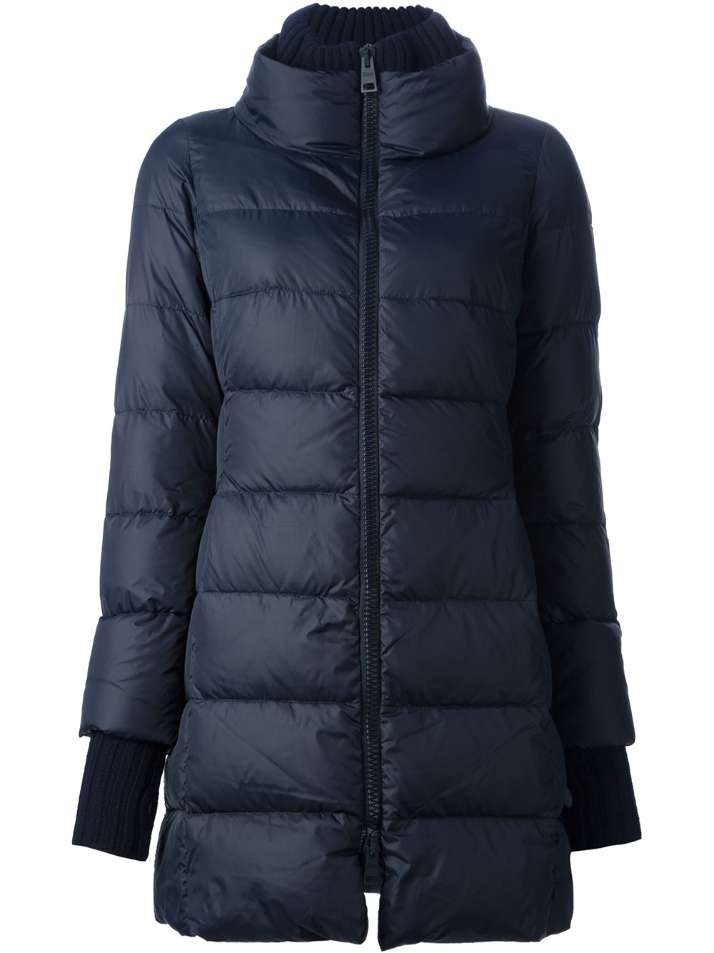 herno padded coat in blue lyst