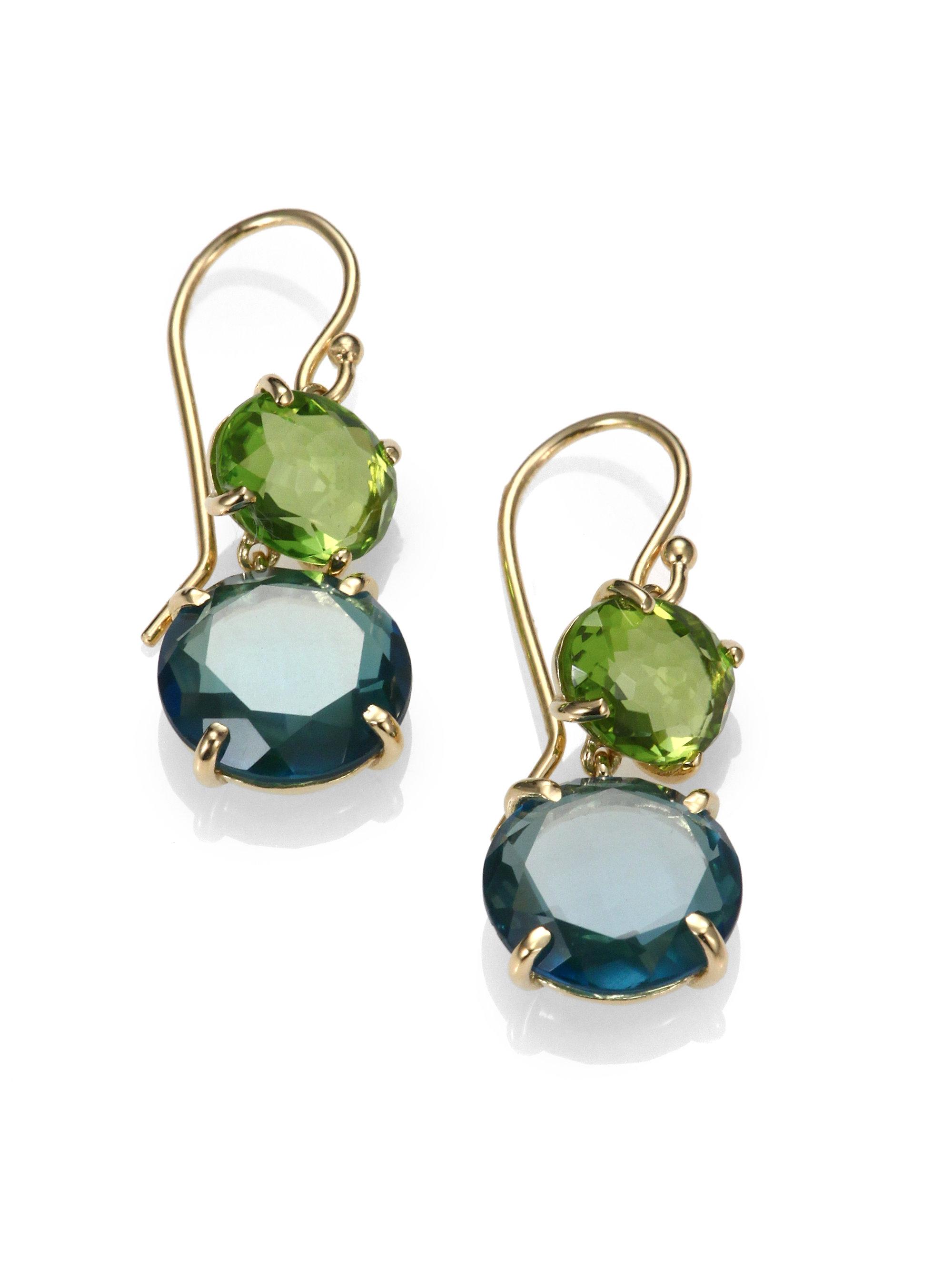 Ippolita Peridot Green Gold Citrine and London Blue Topaz 18k