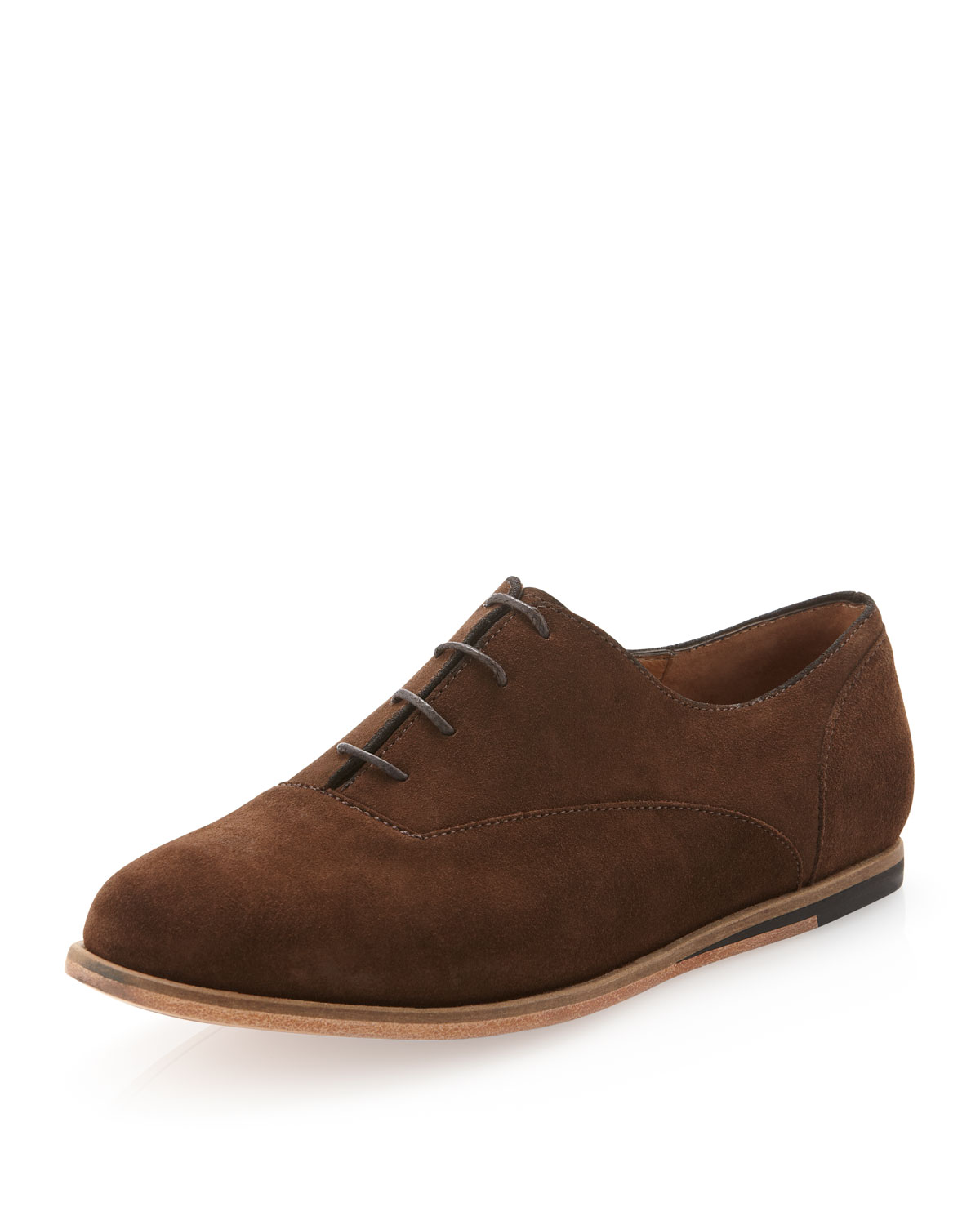 jd fisk suede laceup in brown for 8 lyst