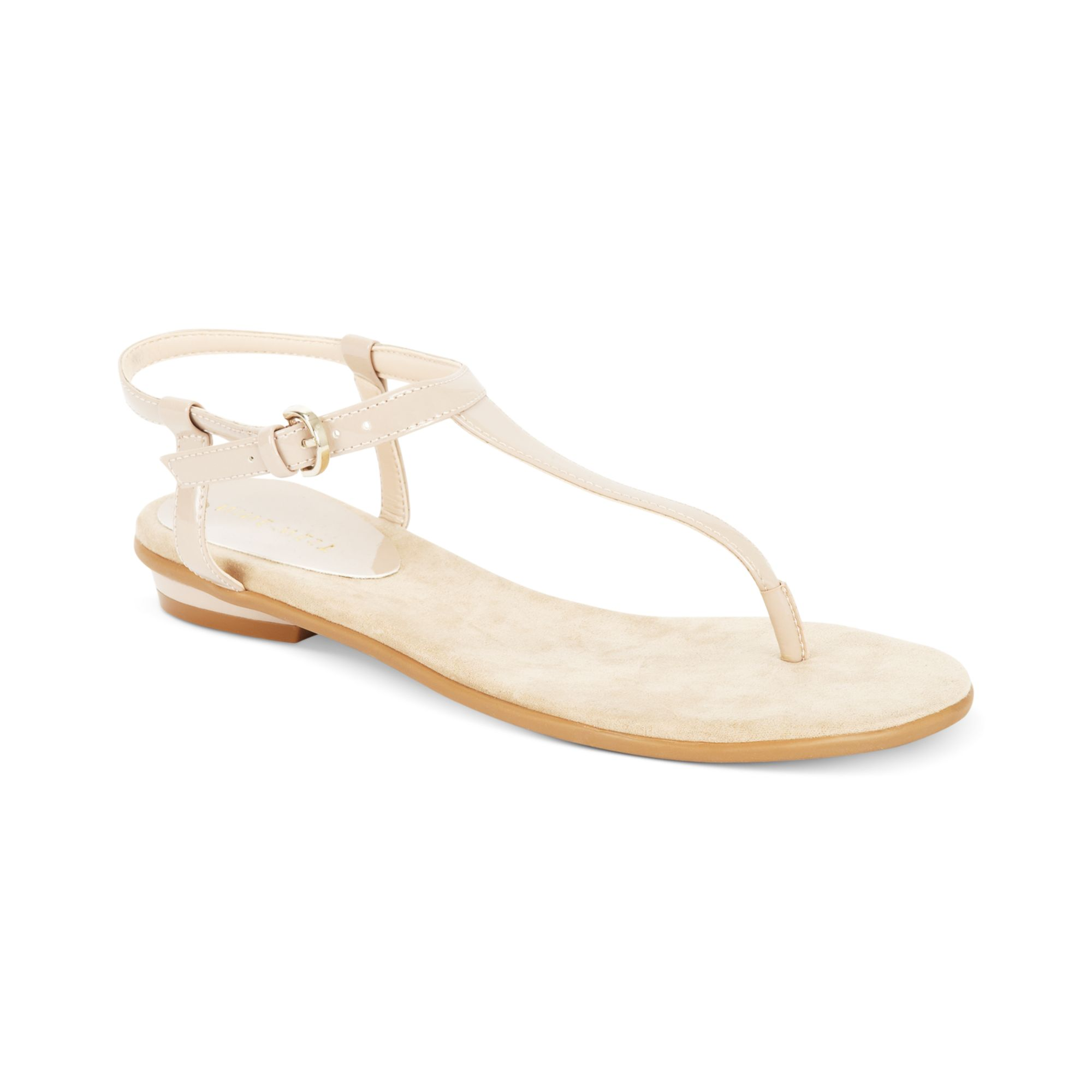 131c2b119 Lyst nine west izzelly flat thong sandals in natural jpg 2000x2000 Nine  west sandals flat