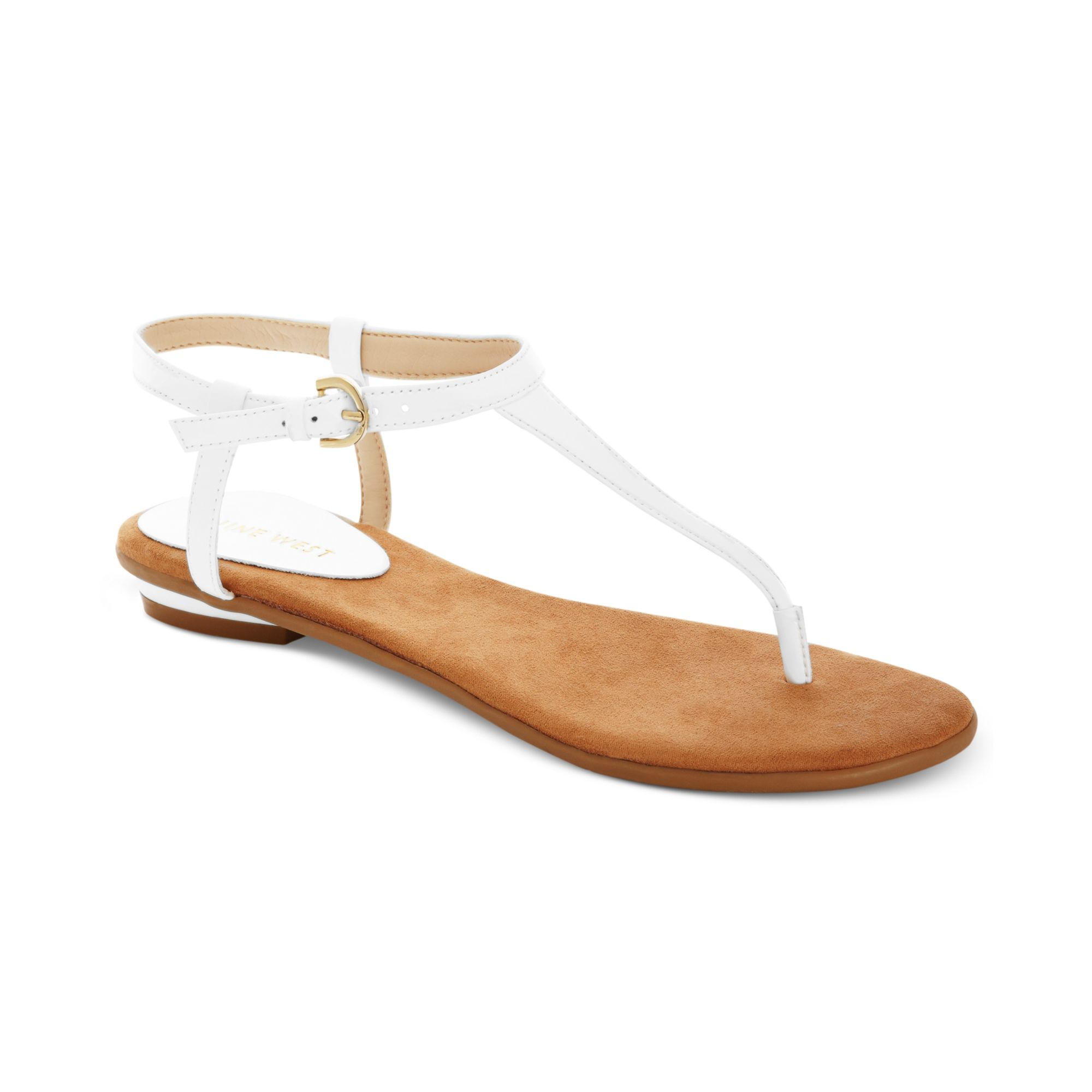9ad6ec186 Lyst - Nine West Izzelly Flat Thong Sandals in White