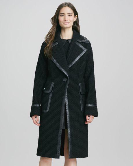 Rachel Zoe Maxwell Oversized Coat in Black