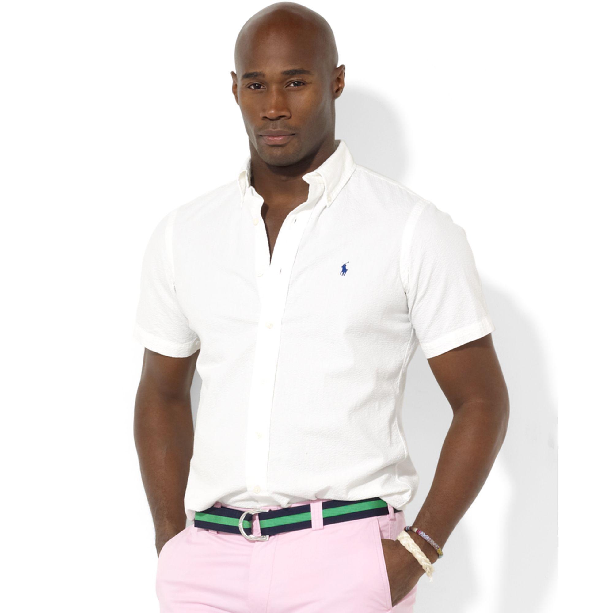 de95b1096 Ralph Lauren Classic-fit Short-sleeved Seersucker Button-down Shirt ...