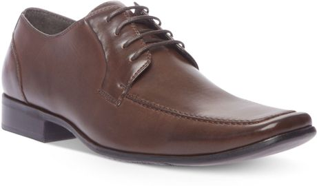 steve madden eagen laceup dress shoes in brown for lyst