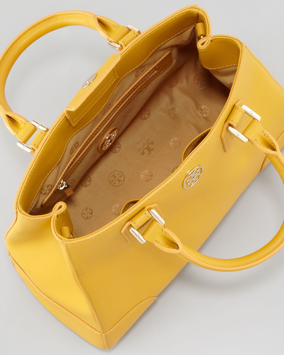 0e2dad71911 Lyst - Tory Burch Robinson Triangle Tote Bag Honey Mustard in Yellow