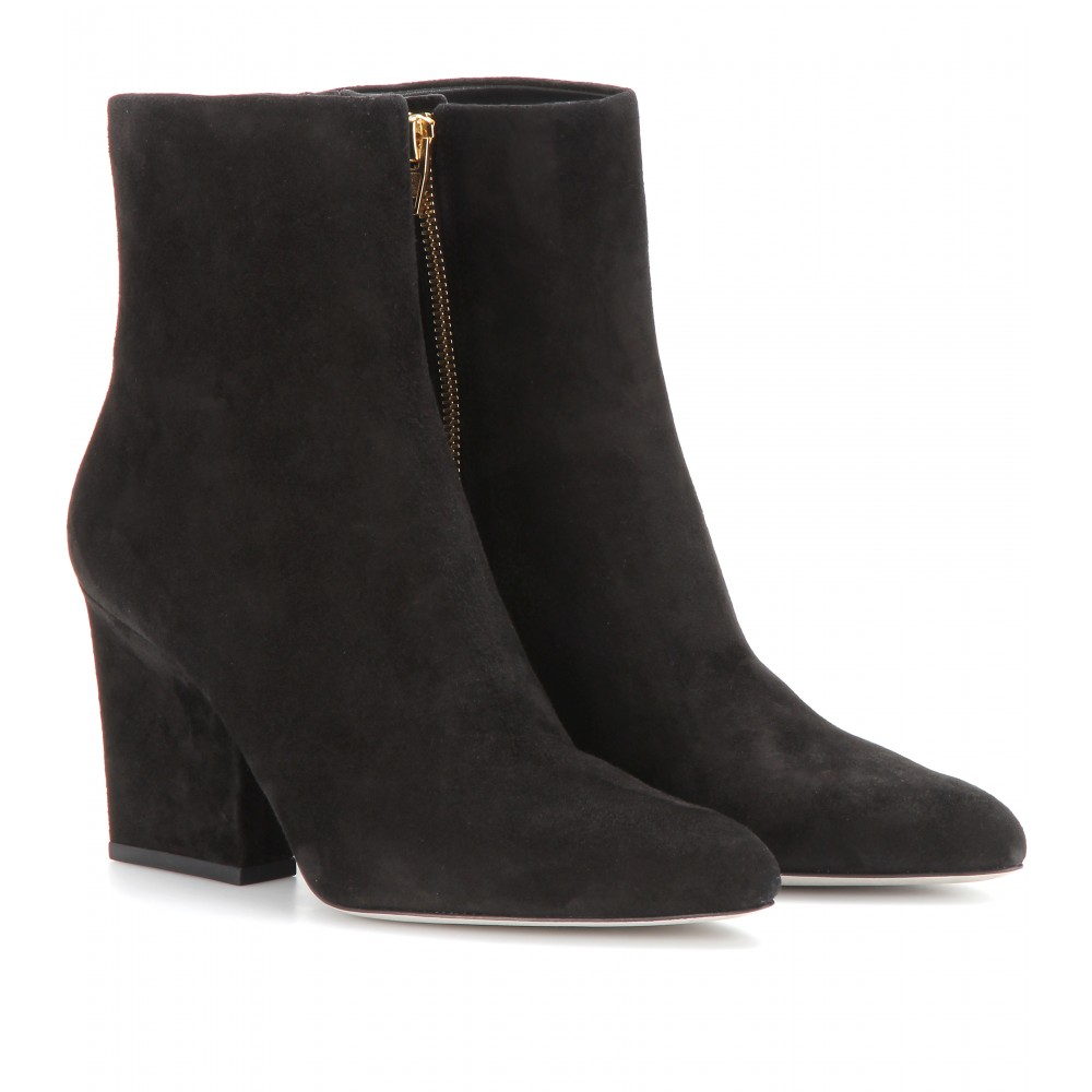 wang sunniva suede ankle boots in black lyst