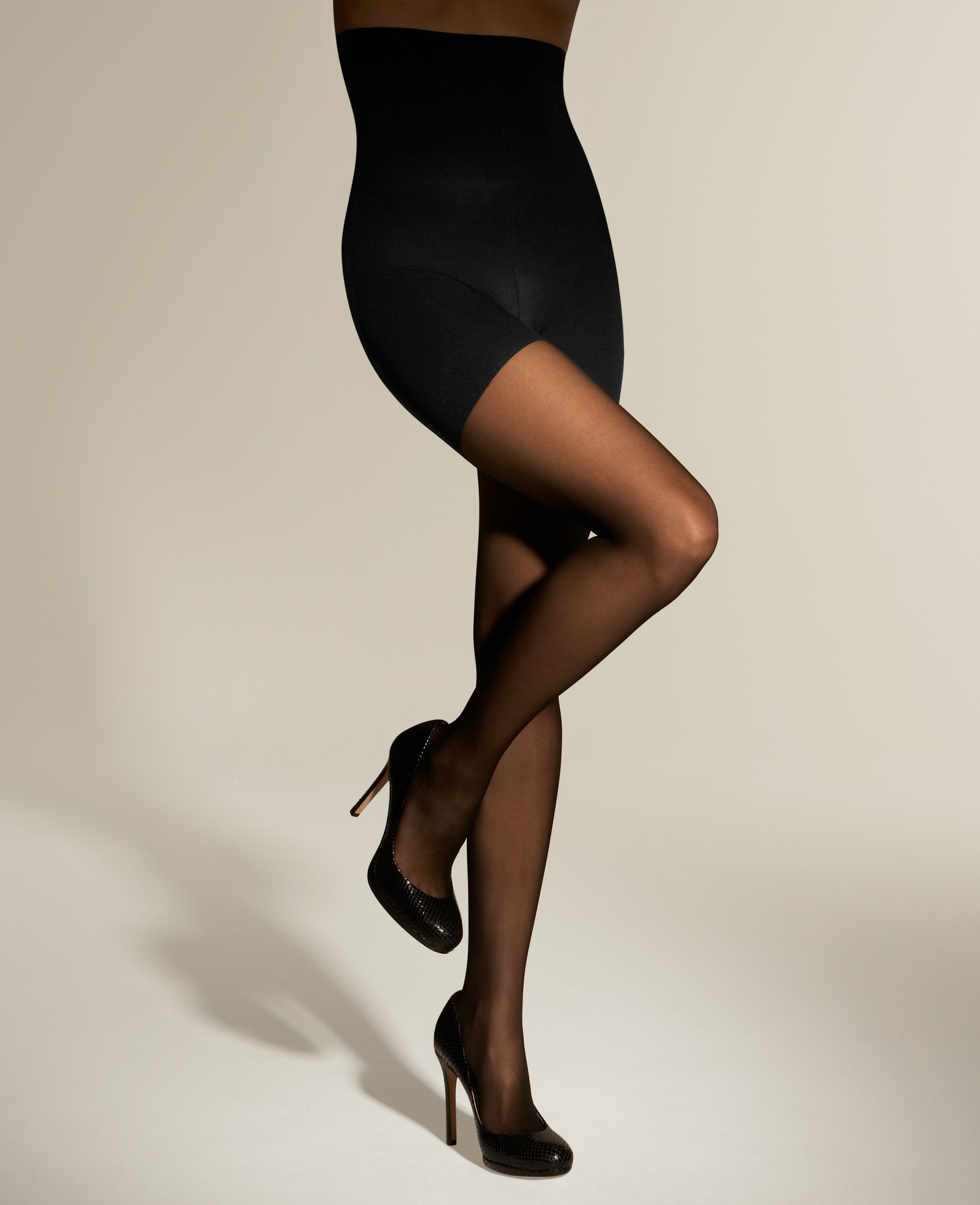 Lyst - Ann Taylor High Waist Control Top Sheer Tights In Black-2644