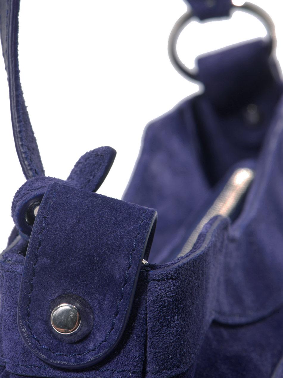 975779eaca Balenciaga Classic Hip Suede Studded Bag in Blue - Lyst