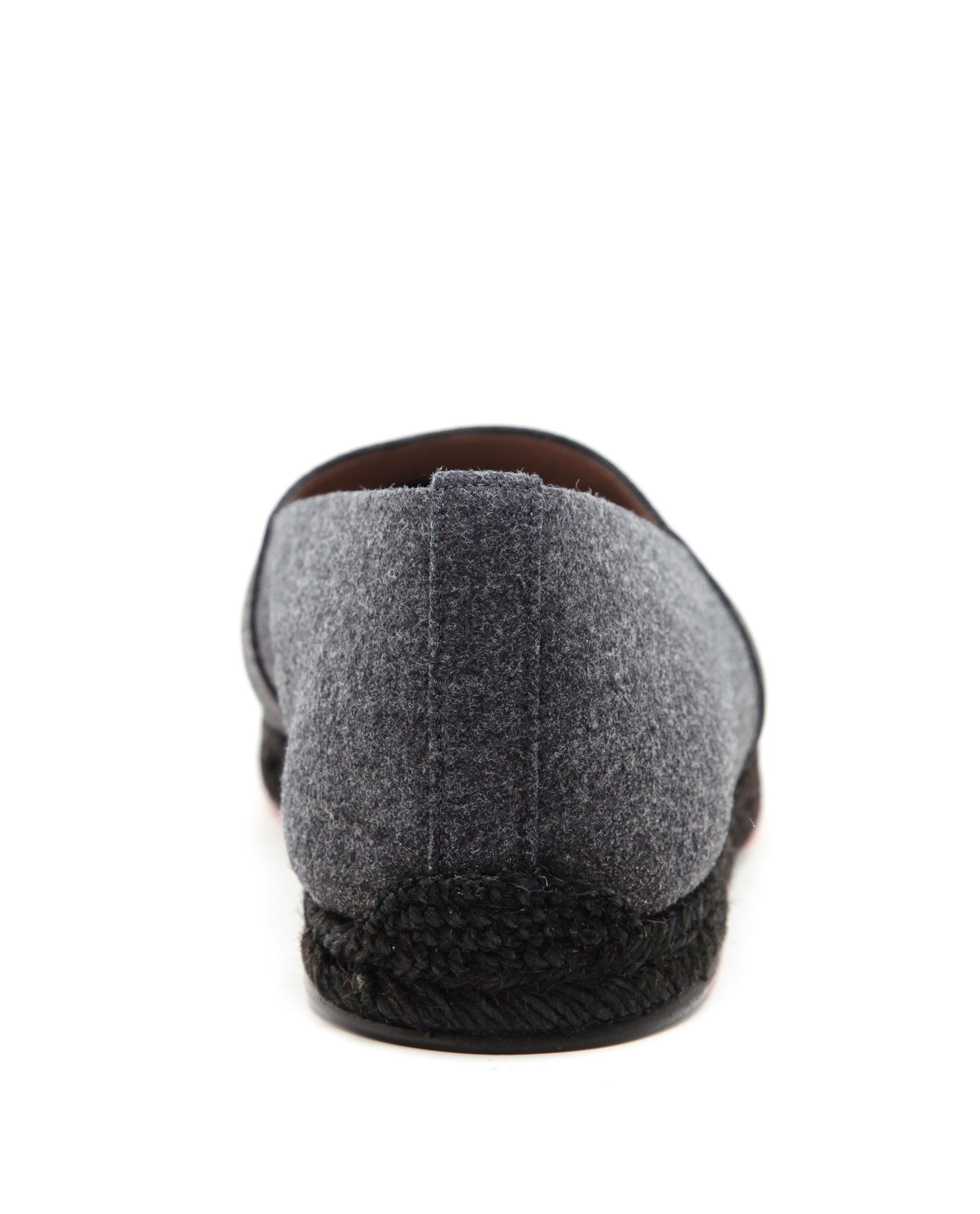 christian louboutin wool peep-toe booties