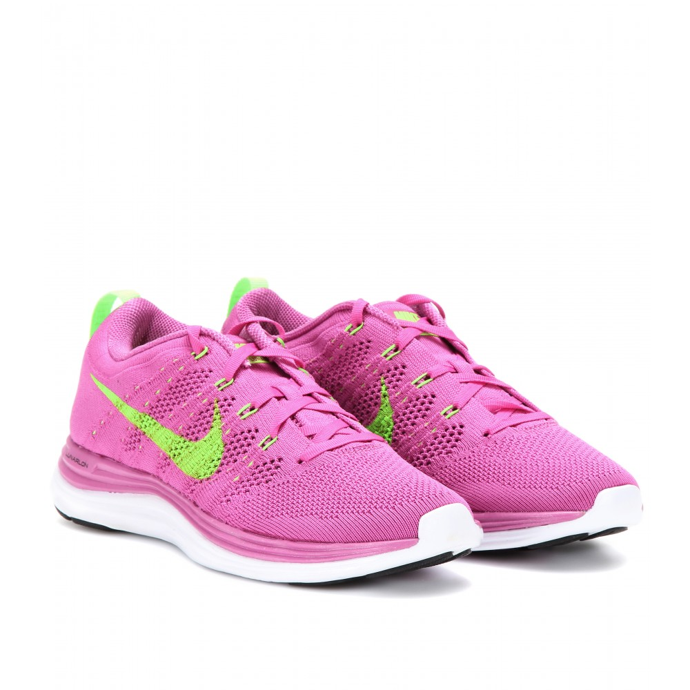 ae3eee899f1ed ... get lyst nike flyknit lunar 1 sneakers in pink 2d59e 2342a