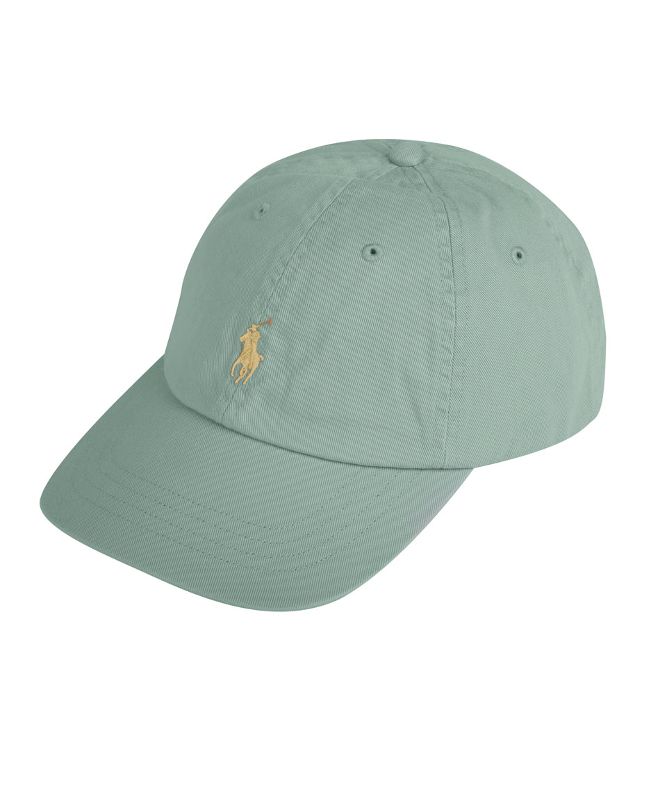 87412628514 Polo Ralph Lauren Sea Green and Gold Logo Cap in Green - Lyst