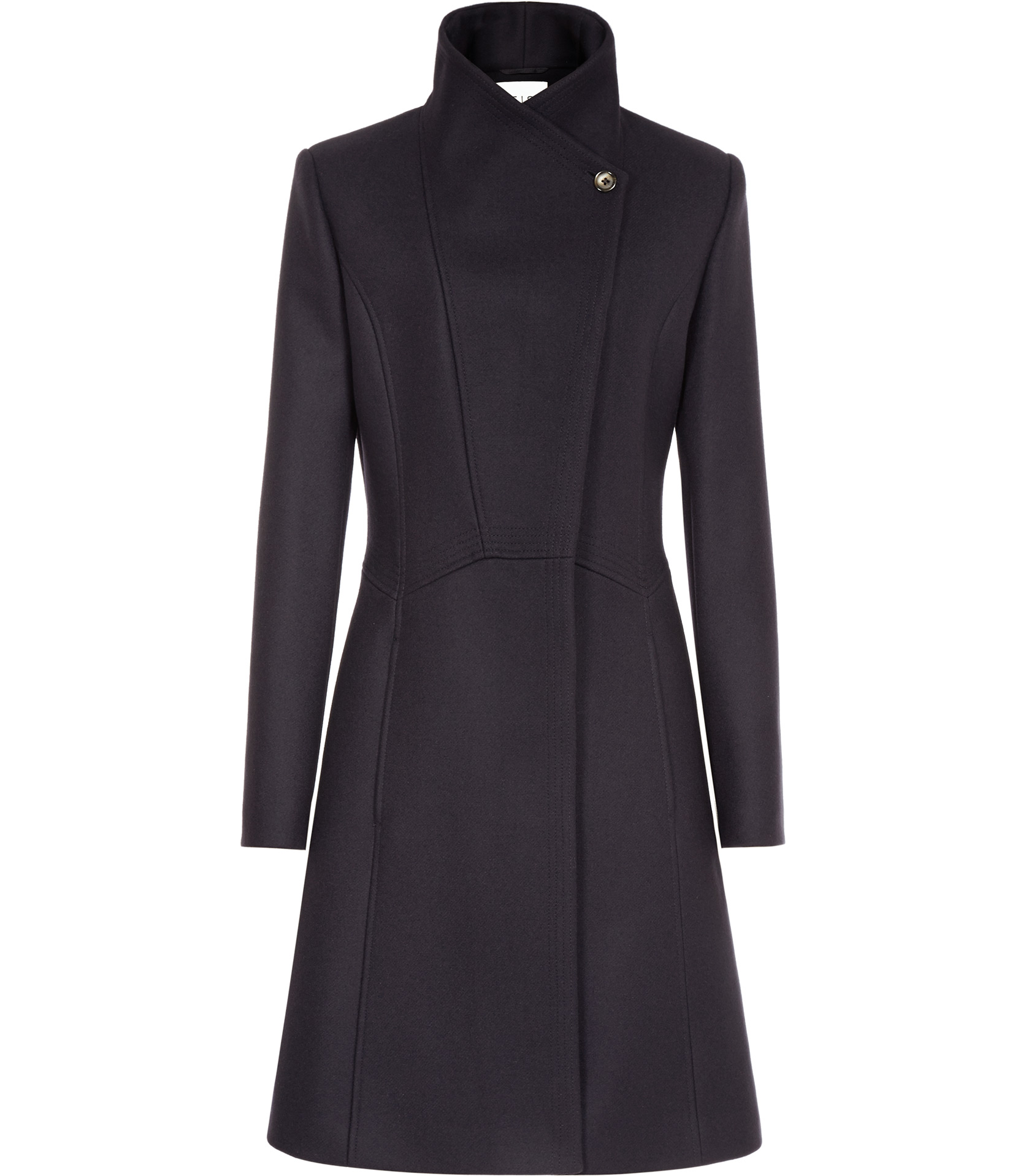 Reiss Virginia Fit And Flare Coat In Blue Lyst